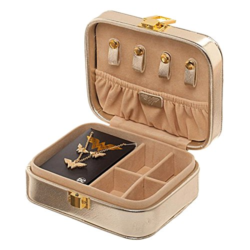 Bioworld Wonder Woman Jewelry Set | Logo Necklace and Earrings with Branded Jewelry Box Case