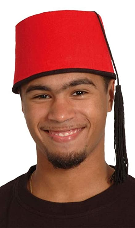 b4c6064df8769 Amazon.com: Mens Ladies Red Fez Hat Comedian Moroccan Fancy Dress ...