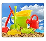 Liili Mouse Pad Natural Rubber Mousepad Plastic children toys for playing in sandpit or on a beach over the blue sky Photo 20323663