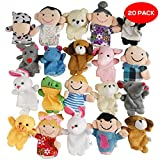 20 Multi Colored Cute Animal Finger Puppets Mini Set - Perfect for Classroom Prizes, Kids Xmas Party Bag Favors, Stocking Fillers, Pinata Stuffers, Birthday Gift and Christmas