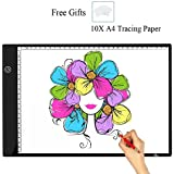 A4 Tracing Light Box,Portable LED Light Table Tracer Dimmable Brightness Artcraft Tracing Light Pad For Artists...