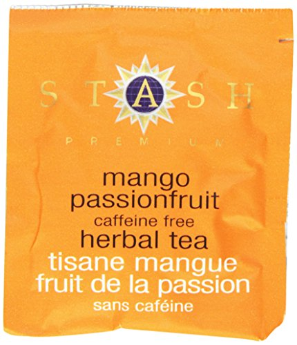 Stash Tea Mango Passionfruit Herbal Tea, 100 Count Box of Tea Bags in Foil (packaging may vary)