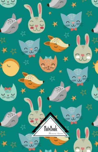 """Notebook Journal Dot-Grid,Graph,Lined,No lined : Colorful Wild Animal Set Cutie Drawing Fox Cat and Rabbits: Small Pocket Notebook Journal Diary, 120 pages, 5.5"""" x 8.5"""" (Blank Notebook Journal) PDF"""