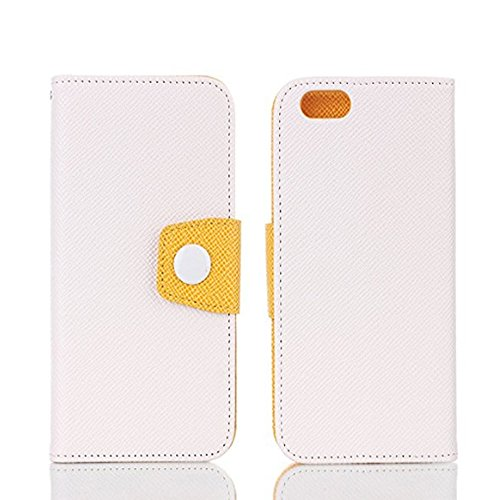 Wallet iPhone 7 PU Leather Case,4.7'' iPhone 7 Cover, Sammid Wallet Pu Leather Smart Flip Folio Cover, with Card Slot for iPhone 7 - White by Sammid