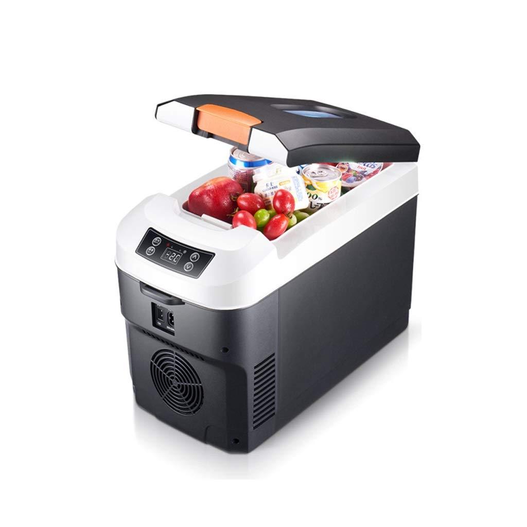 OLLY- 10L Refrigeration Car Refrigerator Digital Display Mini Car Home Dual Use Travel Refrigeration Box Single Door