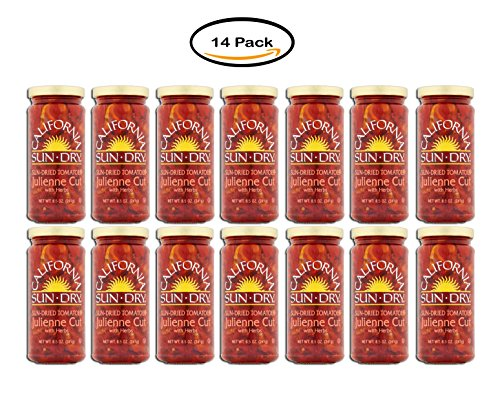 Pack of 14 - California Sun Dry Julienne Cut Sun-Dried Tomatoes, 8.5 oz by California