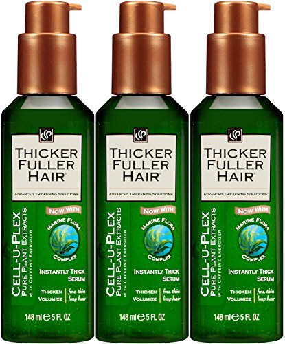 Thicker Fuller Hair Instantly Thick Serum, 5 oz. (Pack of 3) (Thicker Fuller Hair Revitalizing Shampoo)