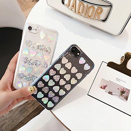 Phone Case & Hülle Für iPhone 6 Plus & 6s Plus, 3D Glitzer Powder Sequins Love Pattern Schutzhülle