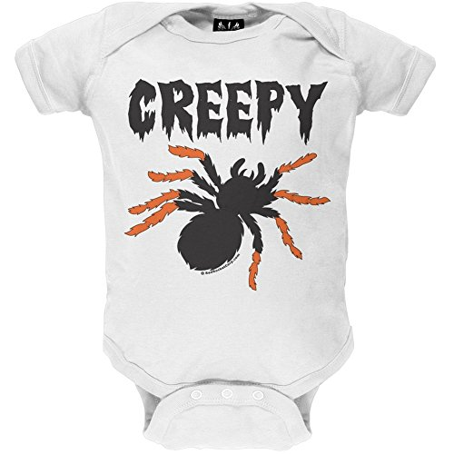 Old Glory - Unisex-baby Creepy Spider Infant Bodysuit 0-6 Months White