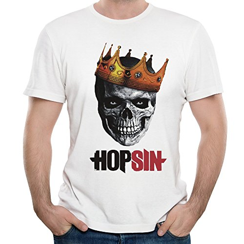 [MAGGO Stage Name Hopsin Pound Syndrome T Shirts Mens White] (Avatar Aang Costume)