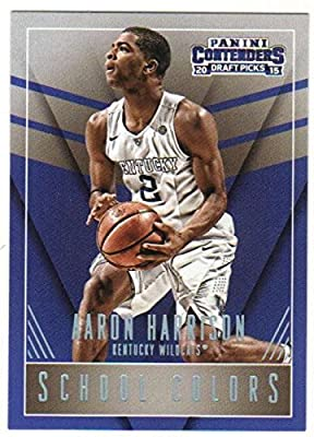 Basketball NBA 2015-16 Panini Contenders Draft Picks School Colors #1 Aaron Harrison