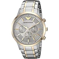 Emporio Armani Men's 'Dress Quartz Stainless Steel Casual Watch, Color:Silver-Toned (Model: AR11076
