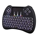 Best Keyboard Combo With Airs - 2.4GHz Colorful Backlit Wireless Mini Keyboard Handheld Remote Review