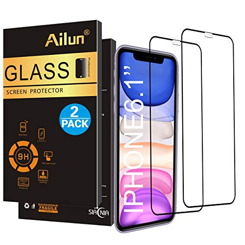 Ailun Screen Protector Compatible iPhone 11/XR 6.1Inch 2019/2018 Release 2Pack Tempered Glass Anti Scratch Full Notch Coverage