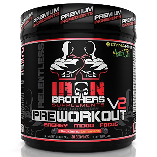 Pre Workout Supplement Powder for Men/Women – Best Creatine Free Nutrition – Muscle Pump Optimum Energy Fat Burner – 30 Servings-Most Potent Natural High Stimulant-Strong Caffeine & Dynamine