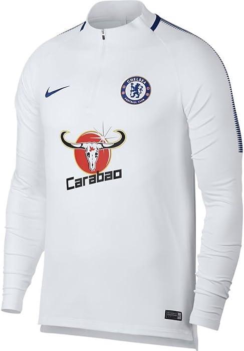 59106a53f Amazon.com   Nike Men s Chelsea FC Soccer Squad Drill Top (White) (X ...