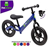 TheCroco Lightweight Balance Bike Premium for Toddlers and Kids (Blue)