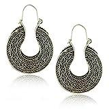 Genenic Lady Women Beaded Crystal Vintage Ear Stud Bohemian Boho Style Earrings Round