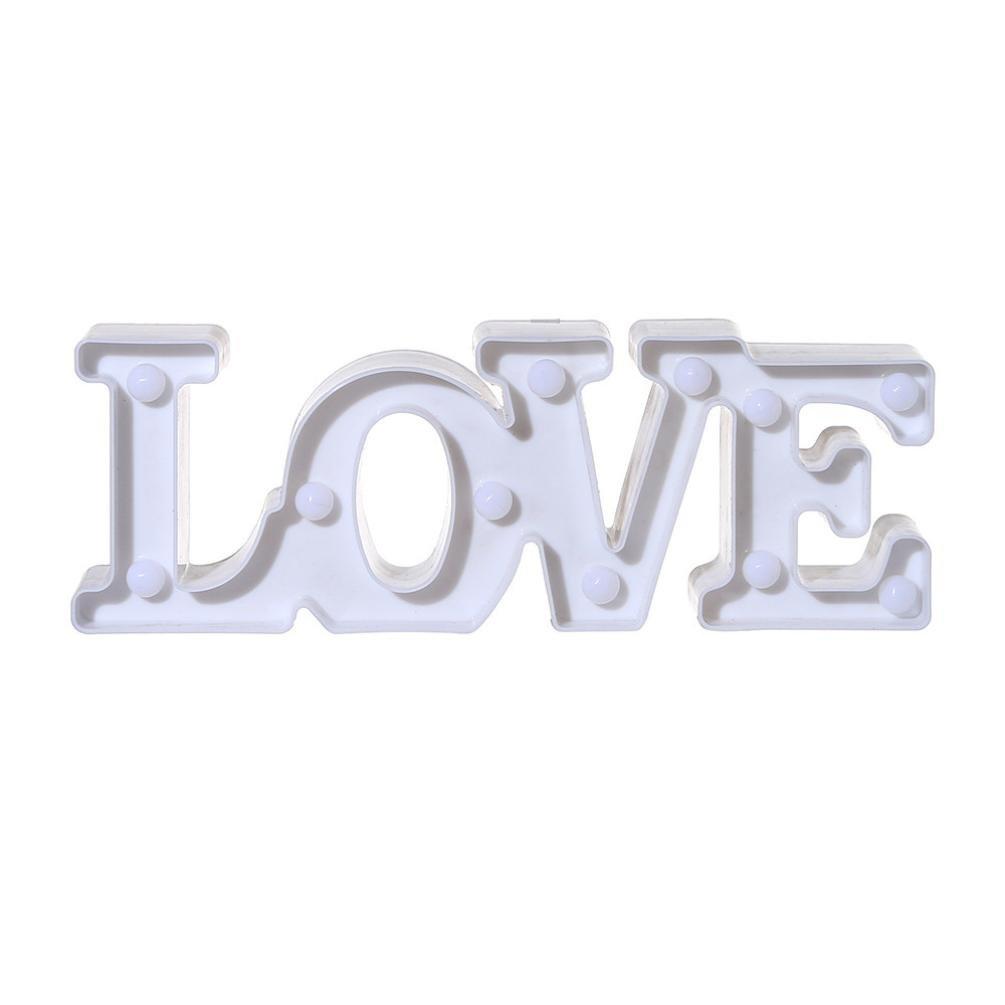 Nightlight、yjydada LoveアルファベットライトLEDライトUpホワイトプラスチック文字Standing Hanging ホワイト B07BMPDJ6G 14295 ホワイト ホワイト