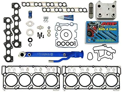 Sinister Diesel Complete Solution Kit for 2003-2007 6.0L Powerstroke w//20mm Head Gaskets Blue