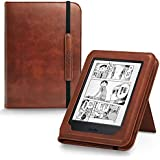 AUAUA Kindle Paperwhite Case -with Card Slot Hand Strap PU Leather Cover Perfectly Fit All Amazon Kindle Paperwhite (Fits All 2012, 2013, 2015 and 2016 Versions) (Card Slot,Brown)