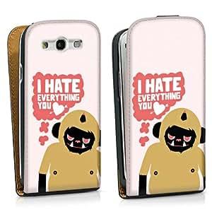Diseño para Samsung Galaxy S3 i9300 / LTE i9305 DesignTasche black - I hate everything you love