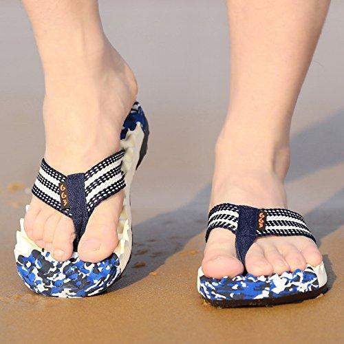 Xing Lin Sandalias De Hombre Nuevo Verano Flip-Flops Hombre De Chanclas De Playa Playa Zapatillas Zapatos Antideslizantes Avispa Sandalias Y Zapatillas Para Hombres Marea Azul Camuflaje