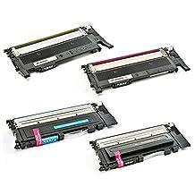 1 Set of 4 SaveOnMany ® Samsung CLT-K406S CLT-C406S CLT-M406S CLT-Y406S (CLT-406S 406S CLT406) BK/C/M/Y Compatible Remanufactured Toner Cartridges For Samsung Xpress C410W, SL-C410W, SL-C460FW, SL-C460W / CLP-360, CLP-365, CLP-365W / CLX-3305FW