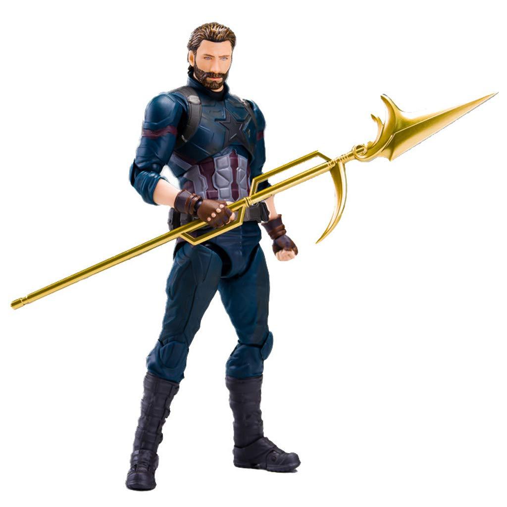 FFLSDR Captain America Avengers Infinite War Mobile Removable Decorative Model Props Anime Toys