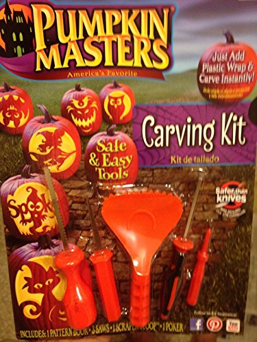 Best to Buy PUMPKIN MASTERS PUMPKIN CARVING KIT- INCLUDES TOOLS AND PATTERN BOOK pumpkin spice deodorant puncher ni712 tazo easypag carved wbm himalayan glow hand crystal salt lamp pfeil