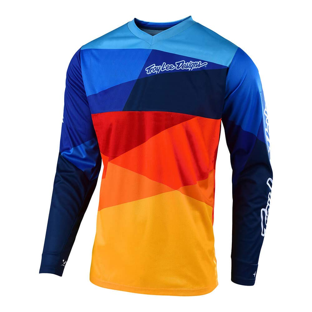 Troy Lee Designs 2019 Youth GP Jet Jersey-Yellow//Navy-YXS
