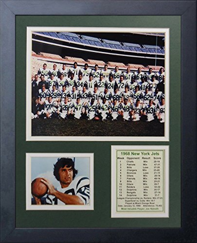 - 11x14 FRAMED 1968 NEW YORK JETS TEAM PHOTO JOE NAMATH SUPER BOWL III 8X10 PHOTO