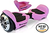 T1 SILICONE CASE for Self-balancing scooter 6.5 inch. Rubber Guard Protection Absorbs Impact While Riding Self Balancing Board. Easy Install (Pink)