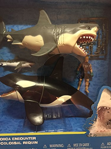Shark Cage - Great White Shark & Killer Whale Playset - Animal Planet