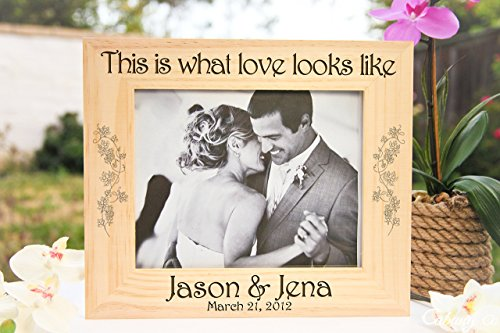 Personalized Picture Frame - This is What Love Looks - Ban A Is Ray What