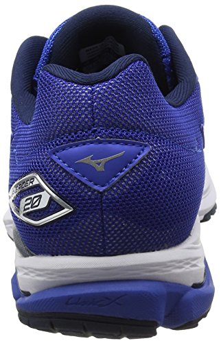 Mizuno Wave Rider 20 - Zapatillas de Running Hombre Azul (Nautical Blue/white/dress Blues)