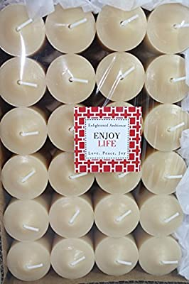 Enlightened Ambience SCENTED VOTIVE CANDLES LAVENDER SCENT, IVORY, LONG-BURNING, BULK SET OF 24