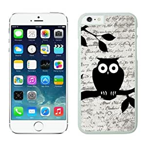 BINGO most popular Owl On Vintage Paper Iphone 6 white covers wangjiang maoyi