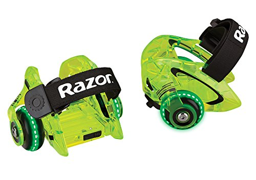 Green Razor (Razor Jetts DLX Heel Wheels, Neon Green)