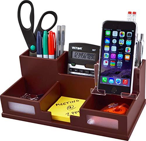 Victor Desk Organizer with Smart Phone Holder (Autumn Brown)