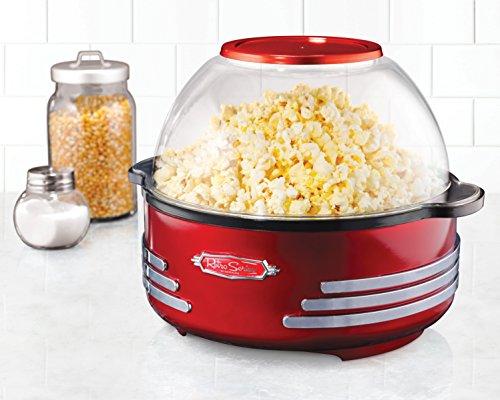 082677412027 - Nostalgia SP300RETRORED Retro Series 6-Quart Stirring Popcorn Popper carousel main 1