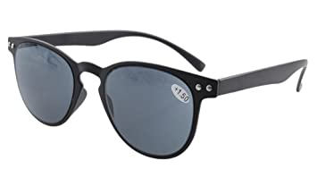 5bf4bb4cce3 Eyekepper Round Full Coverage Ultrathin Flex Frame Reading Glasses Sun  Readers +2.0