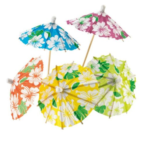 Eisschirmchen aus Papier 24 Stück Hawaii Liefermenge = 1