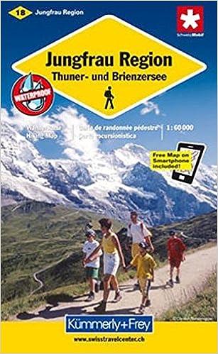 Jungfrau Region Hiking Map 9783259008867 Amazoncom Books