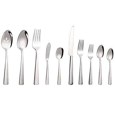 45-Pieces Flatware Set, Stainless Steel Silverware Set for 8, Heat Resistant Tableware Cutlery, Not-Bend and Rust-Proof Guarantee