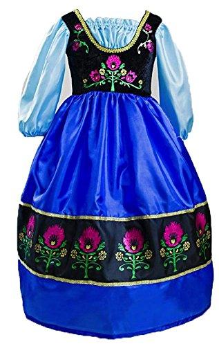 Little Adventures Traditional Scandinavian Princess Girls Costume - Large (5-7 Yrs)