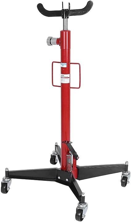 Longspeed Gato de transmisión telescópica Vertical para automóvil 1100 LB / 500 kg Motor hidráulico Profesional Caja de Cambios Elevación Ruedas giratorias Elevación - Rojo: Amazon.es: Coche y moto