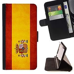 Momo Phone Case / Flip Funda de Cuero Case Cover - Nacional bandera de la nación País Espa?a; - LG Nexus 5 D820 D821