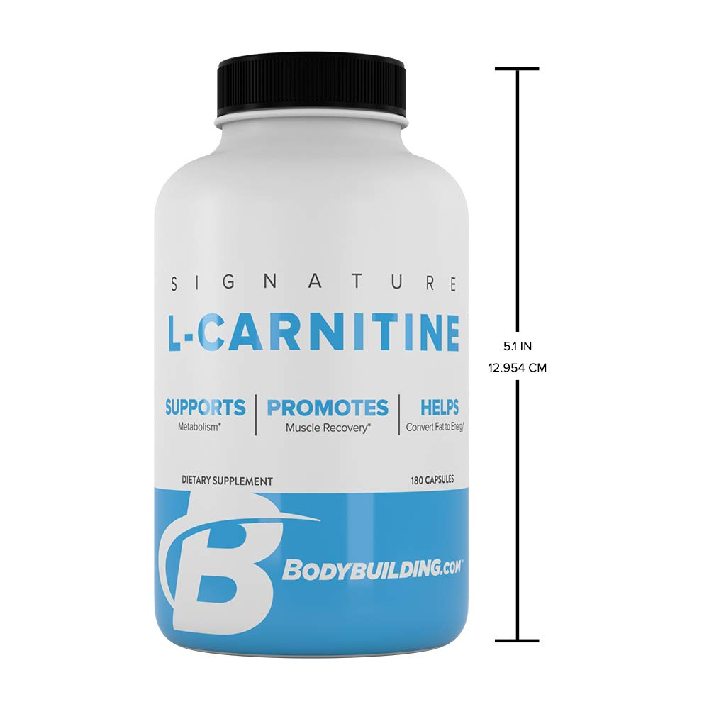 Bodybuilding Signature L-Carnitine Capsules | CARNIPURE Amino Acid | Support Metabolism, Helps Convert Fat to Energy | 180 Servings by Bodybuilding.com