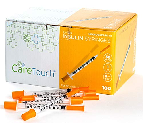Care Touch Insulin Syringes   30g 5/16